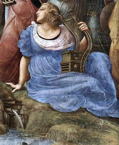 Raphael The Parnassus (detail 4) (Stanza della Segnatura) - Hand Painted Oil Painting