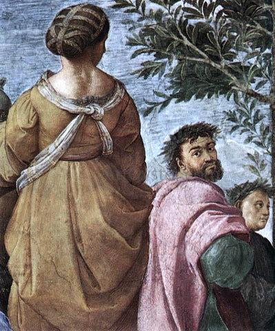 Raphael The Parnassus (detail 6) (Stanza della Segnatura) - Hand Painted Oil Painting