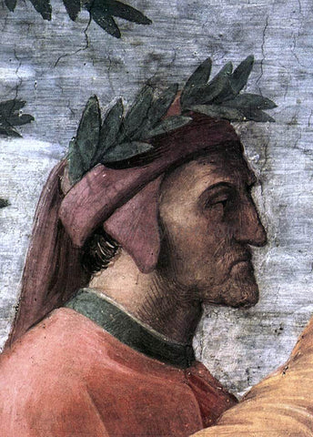 Raphael The Parnassus (detail 8) (Stanza della Segnatura) - Hand Painted Oil Painting