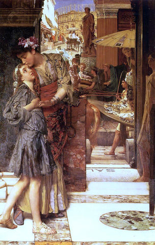 Sir Lawrence Alma-Tadema The Parting Kiss - Hand Painted Oil Painting