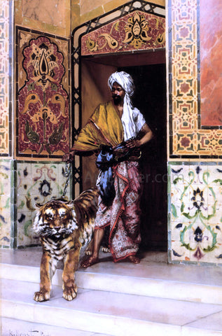 Rudolph Ernst The Pasha's Favourite Tiger - Hand Painted Oil Painting