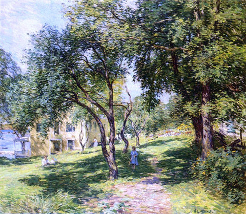 Willard Leroy Metcalf The Path - Hand Painted Oil Painting
