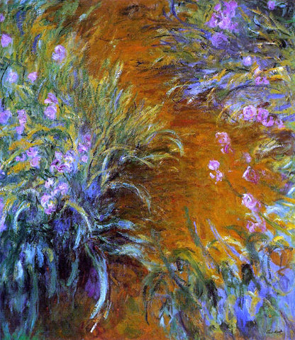 Claude Oscar Monet The Path through the Irises - Hand Painted Oil Painting