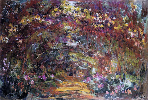 Claude Oscar Monet The Path Under the Rose Trellises, Giverny - Hand Painted Oil Painting