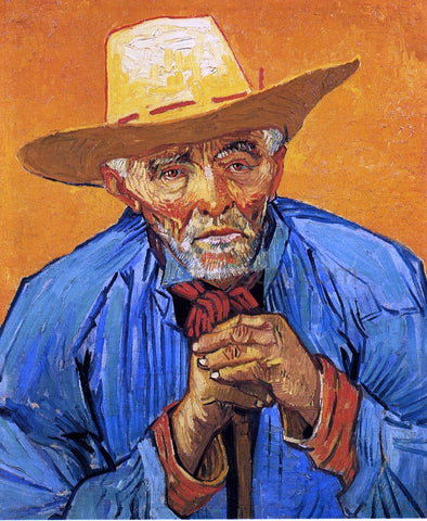 Vincent Van Gogh A Peasant, Portrait of Patience Escalier - Hand Painted Oil Painting