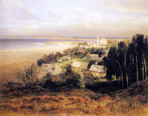 Alexei Kondratevich Savrasov The Pechersk Monastery near Nizhni Novgorod - Hand Painted Oil Painting