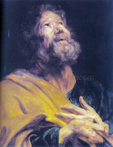 Sir Antony Van Dyck The Penitent Apostle Peter - Hand Painted Oil Painting