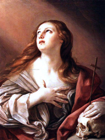 Guido Reni The Penitent Magdalene - Hand Painted Oil Painting