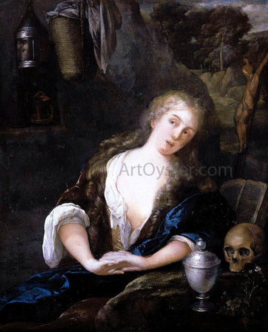 Eglon Van der Neer The Penitent Magdalene - Hand Painted Oil Painting