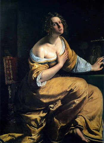 Artemisia Gentileschi The Penitent Mary Magdalen - Hand Painted Oil Painting