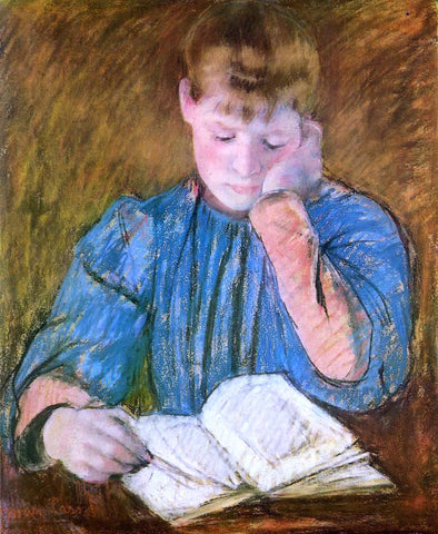 Mary Cassatt The Pensive Reader - Hand Painted Oil Painting
