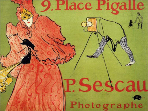 Henri De Toulouse-Lautrec The Photagrapher Sescau - Hand Painted Oil Painting