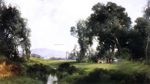 Thomas Moran The Picnic - Hand Painted Oil Painting