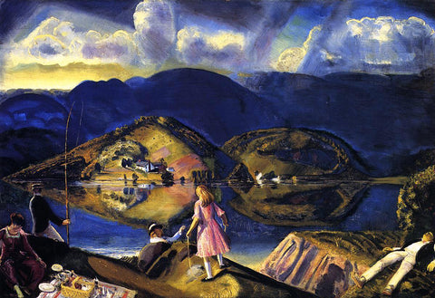 George Wesley Bellows The Picnic - Hand Painted Oil Painting