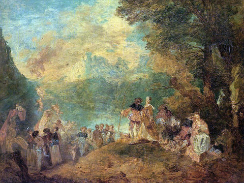 Eugene-Louis Boudin The Pilgrimage to Cythera (after Watteau) - Hand Painted Oil Painting
