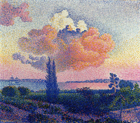 Henri Edmond Cross The Pink Cloud - Hand Painted Oil Painting