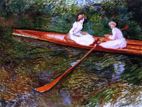 Claude Oscar Monet The Pink Skiff - Hand Painted Oil Painting