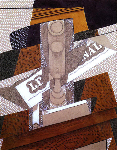 Juan Gris The Pipe - Hand Painted Oil Painting