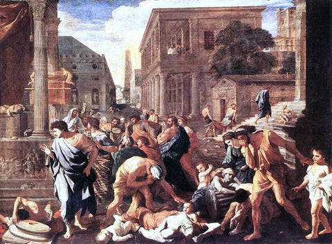 Nicolas Poussin The Plague at Ashod - Hand Painted Oil Painting