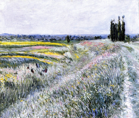 Gustave Caillebotte The Plain at Gennevilliers, Group of Poplars - Hand Painted Oil Painting