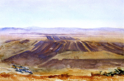 John Singer Sargent The Plains from Nazareth - Hand Painted Oil Painting