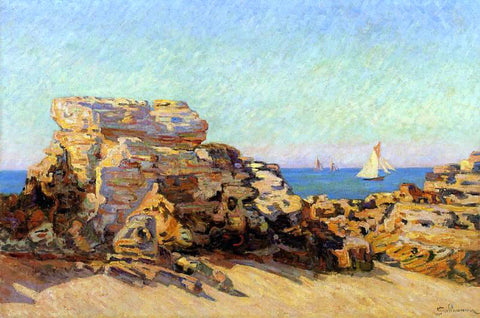 Armand Guillaumin The Platin Rock at Saint-Palais - Hand Painted Oil Painting