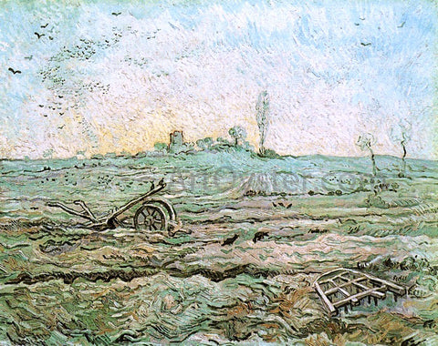 Vincent Van Gogh The Plough and the Harrow (after Millet) - Hand Painted Oil Painting