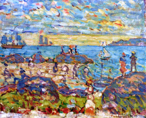 Maurice Prendergast The Point, Gloucester - Hand Painted Oil Painting