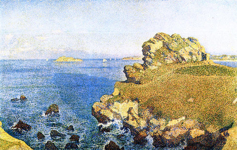 Theo Van Rysselberghe The Pointe de per Kiridec at Roscoff, Brittany - Hand Painted Oil Painting