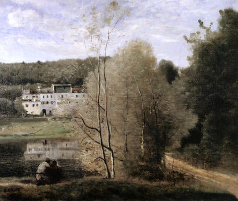 Jean-Baptiste-Camille Corot The Pond and the Cabassud Houses at Ville-d'Avray - Hand Painted Oil Painting