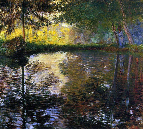 Claude Oscar Monet The Pond at Montgeron - Hand Painted Oil Painting
