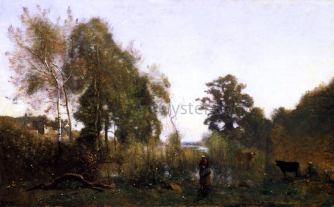 Jean-Baptiste-Camille Corot The Ponds of Ville d'Avray - Hand Painted Oil Painting