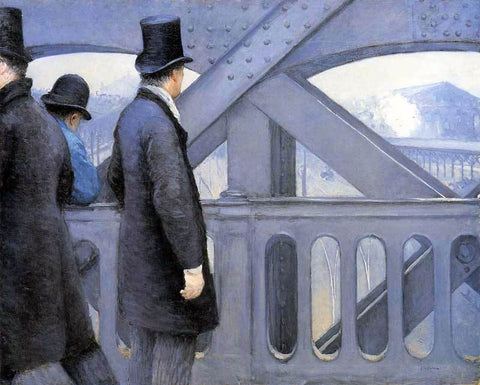 Gustave Caillebotte The Pont de Europe - Hand Painted Oil Painting
