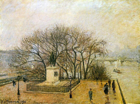 Camille Pissarro The Pont-Neuf, Statue of Henri IV: Mist - Hand Painted Oil Painting