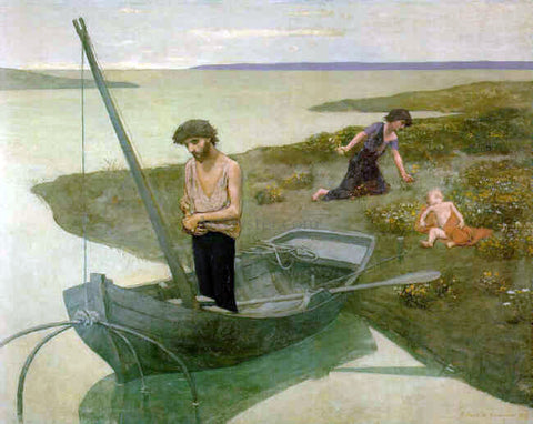 Pierre Puvis De Chavannes The Poor Fisherman - Hand Painted Oil Painting