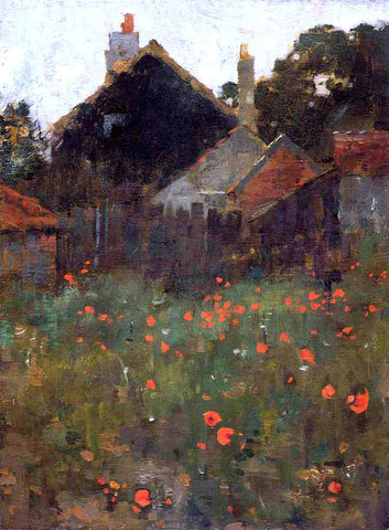 Willard Leroy Metcalf The Poppy Field - Hand Painted Oil Painting