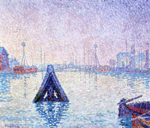 Paul Signac The Port at Vlissingen, Boats and Lighthouses - Hand Painted Oil Painting