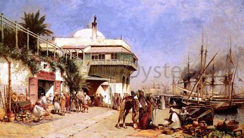 Alfred Wordsworth Thompson The Port of Algiers - Hand Painted Oil Painting