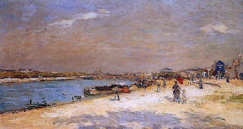 Albert Lebourg The Port of Bercy, Unloading the Sand Barges - Hand Painted Oil Painting