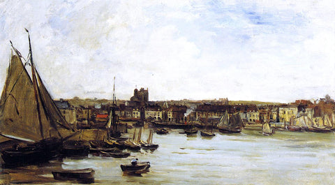 Charles Francois Daubigny The Port of Dieppe - Hand Painted Oil Painting