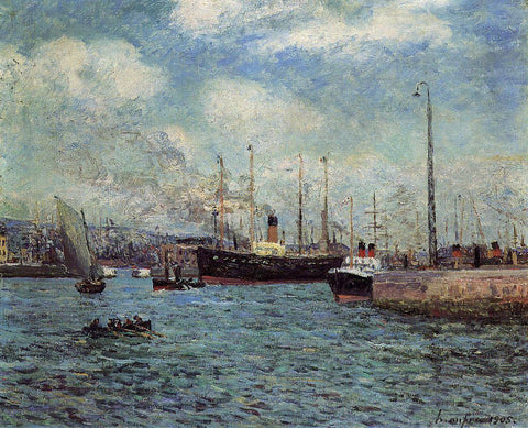 Maxime Maufra The Port of Havre - Hand Painted Oil Painting