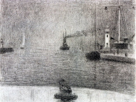 Georges Seurat The Port of Honfleur - Hand Painted Oil Painting