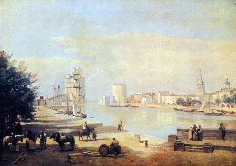Jean-Baptiste-Camille Corot The Port of La Rochelle - Hand Painted Oil Painting