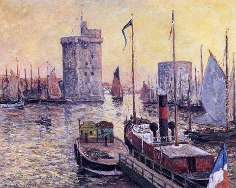 Maxime Maufra The Port of La Rochelle at Twilight - Hand Painted Oil Painting