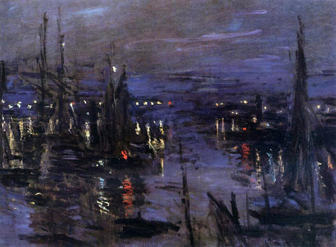 Claude Oscar Monet The Port of Le Havre, Night Effect - Hand Painted Oil Painting