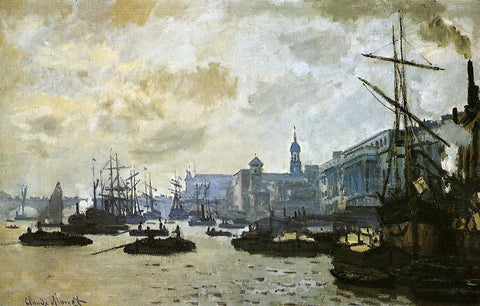 Claude Oscar Monet The Port of London - Hand Painted Oil Painting