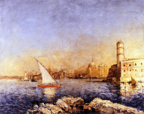 Frank Myers Boggs The Port of Marseille - Hand Painted Oil Painting