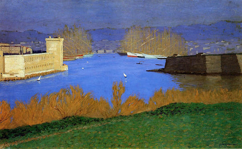 Felix Vallotton The Port of Marseille - Hand Painted Oil Painting