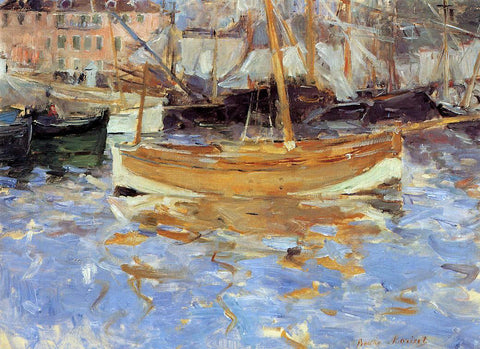 Berthe Morisot The Port of Nice - Hand Painted Oil Painting