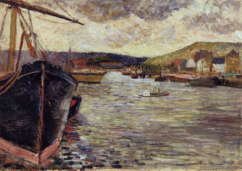 Paul Gauguin The Port of Rouen - Hand Painted Oil Painting